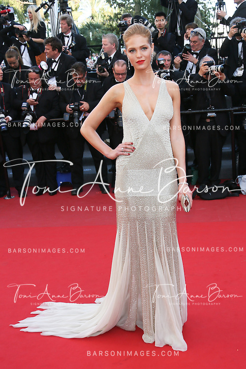 CANNES, FRANCE - MAY 21:  Erin Heatherton attends 'Behind The Candelabra' Premiere during The 66th Annual Cannes Film Festival on May 21, 2013 in Cannes, France.  (Photo by Tony Barson/FilmMagic)