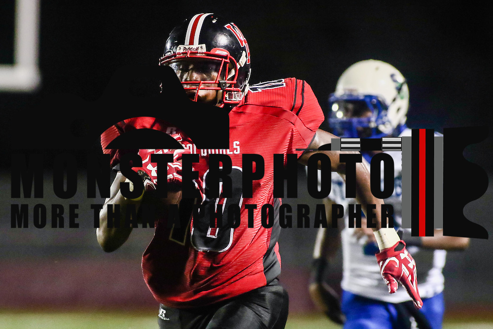 1William Penn wide receiver TERIN COCHRAN (10) scores on 63 yard pass during a week one DIAA game between William Penn and St. Georges, Friday, Sept. 09, 2016 at CARAVEL Academy in Bear, DE.