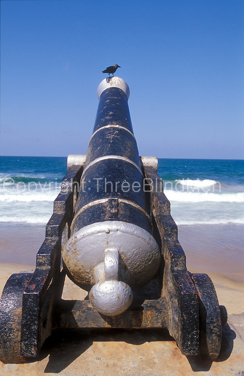 Old canon in front of the Presidents office. The Fort area of Colombo.