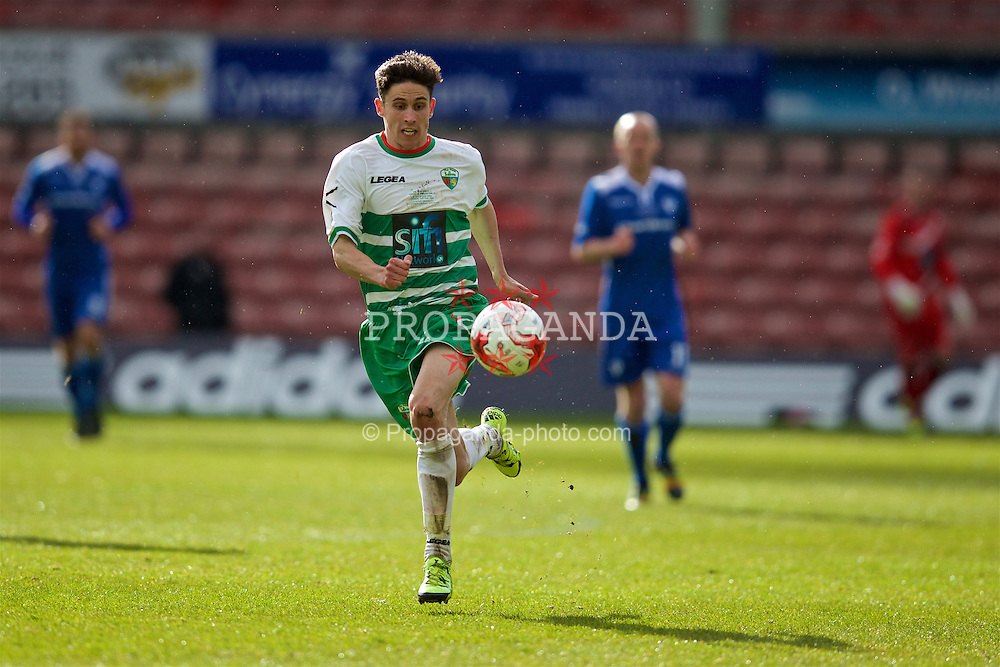 WREXHAM, WALES - Monday, May 2, 2016: The New Saints' Aaron Edwards in action against Airbus UK Broughton during the 129th Welsh Cup Final at the Racecourse Ground. (Pic by David Rawcliffe/Propaganda)