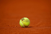 Tennis ball illustration during the Roland Garros French Tennis Open 2018, day 12, on June 7, 2018, at the Roland Garros Stadium in Paris, France - Photo Stephane Allaman / ProSportsImages / DPPI