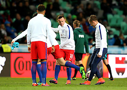Wayne Rooney of England warms up with the other substitutes ahead of starting on the bench for the World Cup Qualifier against Slovenia - Mandatory by-line: Robbie Stephenson/JMP - 11/10/2016 - FOOTBALL - RSC Stozice - Ljubljana, England - Slovenia v England - World Cup European Qualifier