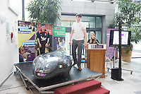 epro free: Launch of NUI Galway&rsquo;s ultra-energy-efficient car the Geec (Galway energy-efficient car), which has been designed, built, driven and tested entirely by 20 NUI Galway undergraduate students. The Geec, which can drive from Galway to Dublin on just 13 cents worth of electricity, will compete in the Shell Eco-marathon in London from June 30 to July 3, 2016.  <br />  Photo:Andrew Downes, xposure