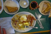 Breakfast in a restaurant at a truck stop at the intersection of I-70 and I-57 in Effingham, Illinois.