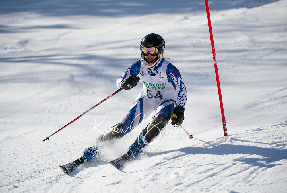 Piche Invitational Slalom 1st run U12 girls Sunday, March 17, 2013.  Karen Bobotas Photographer