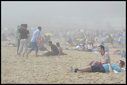 Mist on Bournemouth beach at 2pm on Bank Holiday Monday, which later cleared, Monday May 6, 2013. Photo by: Andrew Parsons / i-Images