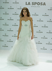 Spanish model Raquel Jimenez presents La Sposa collection 2013 at Q17 studio, SPAIN (MADRID), October 4,  2012. Photo by Oscar Gonzalez / i-Images..SPAIN OUT