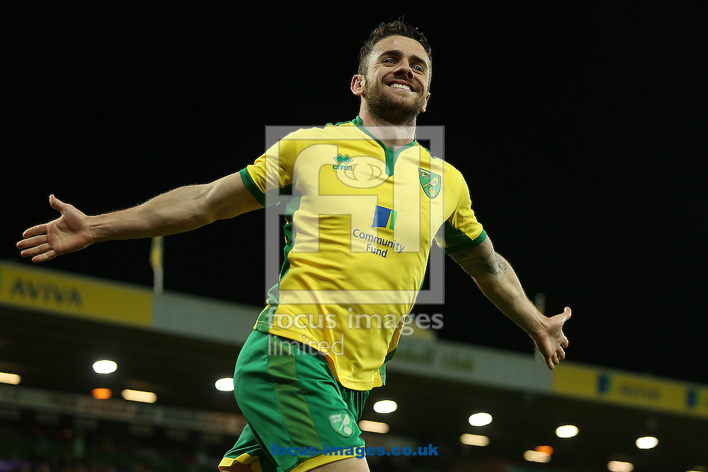 Robbie Brady of Norwich celebrates scoring his sides 3rd goal during the Sky Bet Championship match at Carrow Road, Norwich<br /> Picture by Paul Chesterton/Focus Images Ltd +44 7904 640267<br /> 03/12/2016