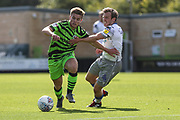 Forest Green Rovers Kyle Taylor(28),on loan from Bournemouth on the ballForest Green Rovers Kyle Taylor(28),on loan from Bournemouth on the ball during the EFL Sky Bet League 2 match between Forest Green Rovers and Colchester United at the New Lawn, Forest Green, United Kingdom on 14 September 2019.