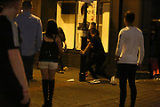 LEEDS UK 30.10.2016  Leeds Town centre, People out and about in fancy dress in the Clubbing district of Leeds