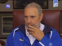 Cuba, Avana  -  2009-08-24 .Fidel Castro.TV's video frame. (Credit Image: © Fotogramma/Ropi via ZUMA Press)