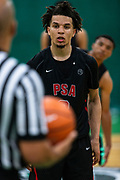 HAMPTON, VA May 26, 2018 - Nike EYBL Session 4. Cole Anthony 2019 #3 of PSA Cardinals at the free-throw line. <br /> NOTE TO USER: Mandatory Copyright Notice: Photo by Jon Lopez / Nike