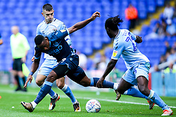 Victor Adeboyejo of Bristol Rovers takes on Fankaty Dabo of Coventry City - Mandatory by-line: Robbie Stephenson/JMP - 17/08/2019 - FOOTBALL - St Andrews Stadium - Birmingham, England - Coventry City v Bristol Rovers - Sky Bet League One