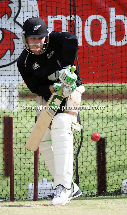 New Zealand wicketkeeper/batsman Brendon McCullum at a nets session ahead of the first test between Australia and New Zealand starting tomorrow at the Gabba. Brisbane, Australia. Thursday 19 November 2008. Pic: Andrew Cornaga/PHOTOSPORT