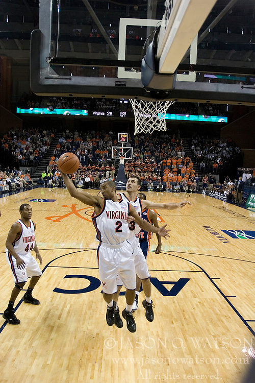 Virginia Cavaliers guard J.R. Reynolds (2)..The Virginia Cavaliers defeated Morgan State 85-66 at the John Paul Jones Arena in Charlottesville, VA on November 19, 2006