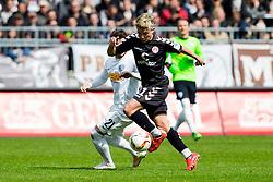 16.04.2016, Millerntor, Hamburg, GER, 2. FBL, FC St. Pauli vs VfL Bochum, 30. Runde, im Bild Marc Rzatkowski (Nr. 11, FC St. Pauli) gegen Stefano Calozzi (Nr. 21, VfL Bochum). // during the 2nd German Bundesliga 30th round match between FC St. Pauli and VfL Bochum at the Millerntor in Hamburg, Germany on 2016/04/16. EXPA Pictures © 2016, PhotoCredit: EXPA/ Eibner-Pressefoto/ Koenig<br /> <br /> *****ATTENTION - OUT of GER*****