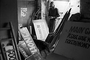 Hank at a signs' workshop, Glastonbury, 1989.