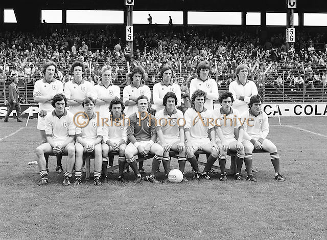 A group photograph of the Down team before the Dublin v Down All Ireland Minor Gaelic Football Final in Croke Park on the 20th of August 1978.