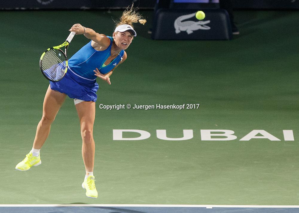 CAROLINE WOZNIACKI (DEN)<br /> <br /> Tennis - Dubai Tennis Championships 2017 -  WTA -  Dubai Duty Free Tennis Stadium - Dubai  -  - United Arab Emirates  - 26 February 2017.