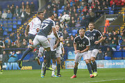 Bolton Midfielder Keshi Anderson heads for goal during the EFL Sky Bet League 1 match between Bolton Wanderers and Southend United at the Macron Stadium, Bolton, England on 3 September 2016. Photo by Pete Burns.