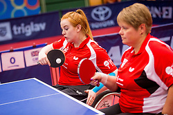 GREAT BRITAIN (GILROY Susan and SHACKLETON Megan) during day 4 of 15th EPINT tournament - European Table Tennis Championships for the Disabled 2017, at Arena Tri Lilije, Lasko, Slovenia, on October 1, 2017. Photo by Ziga Zupan / Sportida