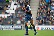 Southend United striker  Nile Ranger (50) leaves the field injured during the EFL Sky Bet League 1 match between Milton Keynes Dons and Southend United at stadium:mk, Milton Keynes, England on 22 October 2016. Photo by Dennis Goodwin.