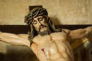 Christ inside church in Trujillo (Spain)