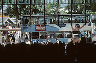 Hong Kong. tramways in  - central -  (the business area). in front of  and Shangai Bank        / tramways  dans   - central -  le quartier des affaires devant la  and Shangai Bank       / R00092/86    L0007248  /  P0001843