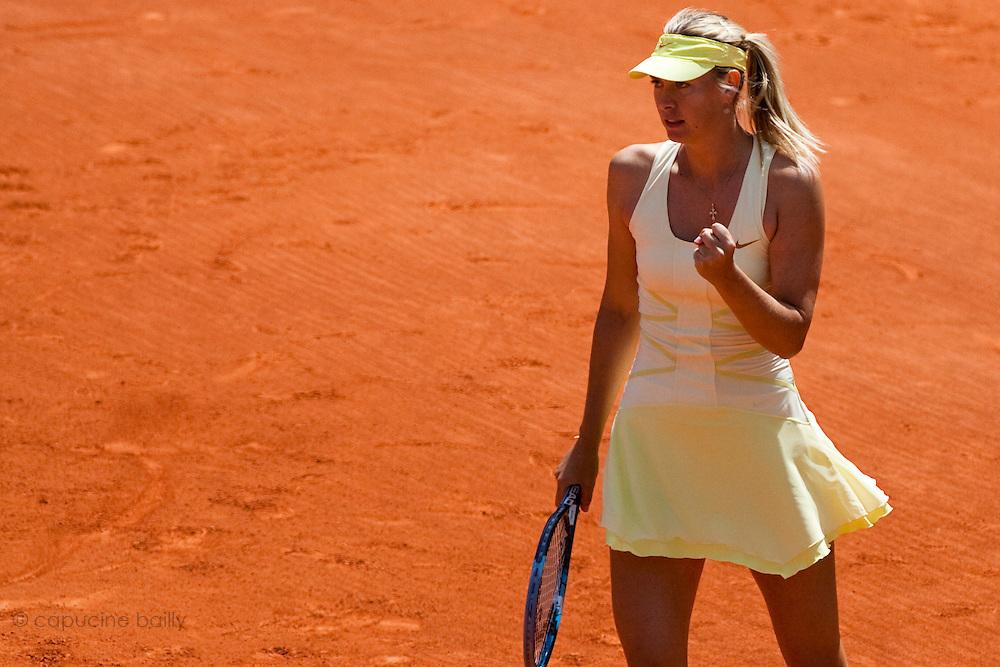 Roland Garros 2011. Paris, France. May 24th 2011..Russian player Maria SHARAPOVA against Mirjana LUCIC