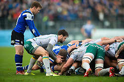Henry Taylor of Northampton Saints puts the ball into a scrum - Mandatory byline: Patrick Khachfe/JMP - 07966 386802 - 09/11/2019 - RUGBY UNION - The Recreation Ground - Bath, England - Bath Rugby v Northampton Saints - Gallagher Premiership