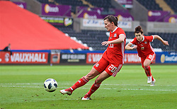 SWANSEA, WALES - Thursday, June 7, 2018: Wales' Helen Ward sees her penalty kick saved during the FIFA Women's World Cup 2019 Qualifying Round Group 1 match between Wales and Bosnia and Herzegovina at the Liberty Stadium. (Pic by David Rawcliffe/Propaganda)