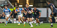 Mike Brown in action, England v Argentina in an Old Mutual Wealth Series, Autumn International match at Twickenham Stadium, London, England, on 26th November 2016. Full Time score 27-14