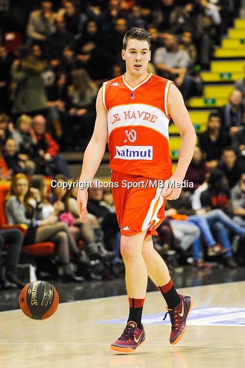 Hugo Invernizzi  - 29.12.2014 - Lyon Villeurbanne / Le Havre - 16e journee Pro A<br />Photo : Jean Paul Thomas / Icon Sport