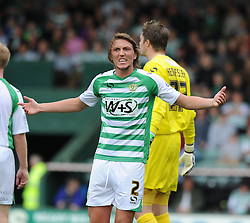 Yeovil Town's Luke Ayling   - Photo mandatory by-line: Alex James/JMP - Tel: Mobile: 07966 386802 24/08/2013 - SPORT - FOOTBALL - Huish Park - Yeovil -  Yeovil Town V Derby County - Sky Bet Championship