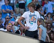ALEXANDER ZVEREV (GER),Mutter Irina und Fitness Coach Jez Green in der Spielerloge<br /> <br /> <br /> <br /> <br /> Australian Open 2017 -  Melbourne  Park - Melbourne - Victoria - Australia  - 22/01/2017.