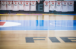 Jersey of Team Turkey during basketball match between National teams of Turkey and Slovenia in the SemiFinal of FIBA U18 European Championship 2019, on August 3, 2019 in Nea Ionia Hall, Volos, Greece. Photo by Vid Ponikvar / Sportida
