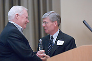 18174Sales Celebration and Awards Ceremony, April 19, 2007. Walter Hall Rotunda...Mr. Howard Stevens presenting PSAB's Chair Award to Jerry Colletti
