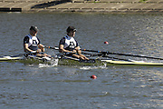 Seville. SPAIN, 18.02.2007, GBR M2X bow Bill LUCUS and Simon FIELDHOUSE, competing in Sundays final, at the FISA Team Cup, held on the River Guadalquiver course. [Photo Peter Spurrier/Intersport Images]    [Mandatory Credit, Peter Spurier/ Intersport Images]. , Rowing Course: Rio Guadalquiver Rowing Course, Seville, SPAIN,
