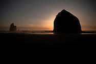 Haystack Sunset - Haystack Rock - Oregon