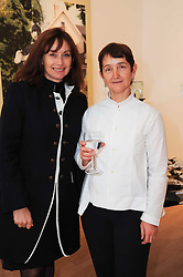 Left to right, ANNITA ZABLUDOWICZ and FRANCES MORRIS at a pre lunch reception to celebrate the launch of the new Louisa Guinness gallery at Ben Brown Fine Art, Cork Street, London on 18th November 2009.