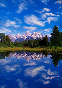Image of Mt. Teton and the Snake River at Grand Teton National Park, Wyoming, Pacific Northwest