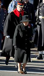 © London News Pictures. 10/11/2013. London, UK. HRH Queen Elizabeth II and Prince Harry attend a Remembrance Day Ceremony at the Cenotaph war memorial in London, United Kingdom, on November 10, 2013 . Royalty and Politicians joined the rest of the county in honouring the war dead by gathering at the iconic memorial to lay wreaths and observe two minutes silence. Photo Credit: Ben Cawthra/LNP