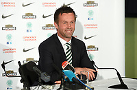 06/06/14<br /> CELTIC PARK - GLASGOW<br /> All smiles from Ronny Delia as he addresses the media after being announced as the new Celtic manager