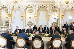 March 22, 2019 - Palm Beach, FL, United States of America - U.S President Donald Trump, center, chairs a meeting of Caribbean leaders at Mar-a-Lago Club March 22, 2019 in Palm Beach, Florida. Included in the meeting are Prime Minister Allen Chastanet of Saint Lucia; President Danilo Medina Sanchez of the Dominican Republic; Prime Minister Andrew Holness of Jamaica; President Jovenel Moise of the Republic of Haiti and Prime Minister Hubert Minnis of the Bahamas. (Credit Image: © Shealah Craighead via ZUMA Wire)