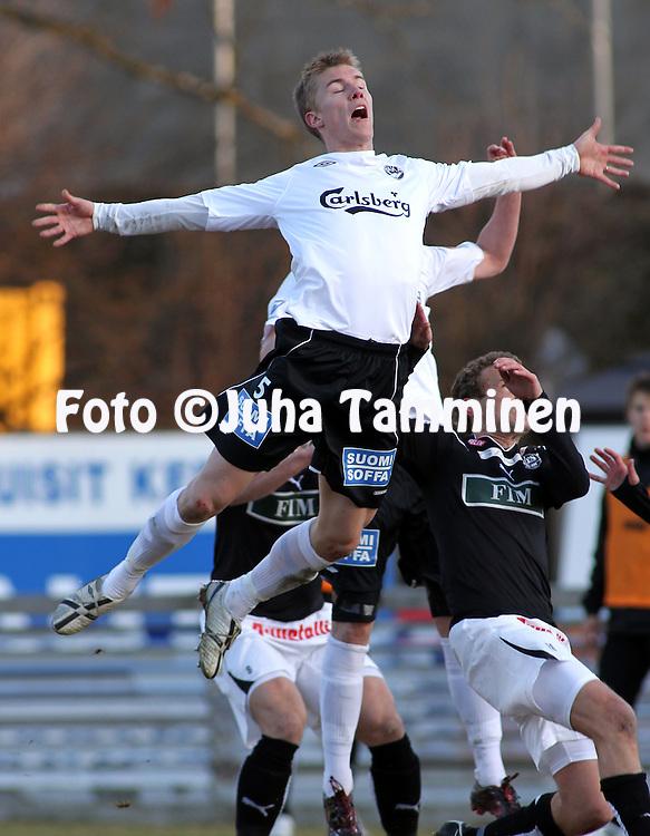19.04.2010, Tehtaankentt?, Valkeakoski..Veikkausliiga 2010, FC Haka - FC TPS Turku..Kalle Parviainen - Haka.©Juha Tamminen.