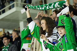 12.10.2012. Hala Tivoli, Ljubljana, SLO, EBEL, HDD Telemach Olimpija Ljubljana vs SAPA Fehérvár AV 19, 11. Runde, in picture Olimpija fans  during the Erste Bank Ice hockey League 11th Round match between HDD Telemach Olimpija Ljubljana and SAPA Fehérvár AV 19 at the Hala Tivoli, Ljubljana, Slovenia on 2012/10/12. Telemach Olimpija Ljubljana defeated SAPA Fehérvár AV 19, 4-2 (Photo By Grega Valancic / Sportida)