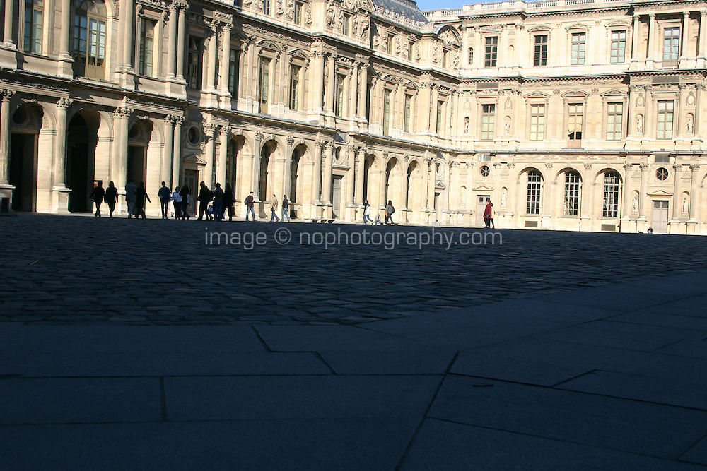Courtyard at the Louvre, Paris, France<br />