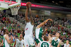 Deon Thompson  of Union Olimpija during basketball match between KK Union Olimpija and KK Krka in 4th Final match of Telemach Slovenian Champion League 2011/12, on May 24, 2012 in Arena Stozice, Ljubljana, Slovenia.  (Photo by Vid Ponikvar / Sportida.com)