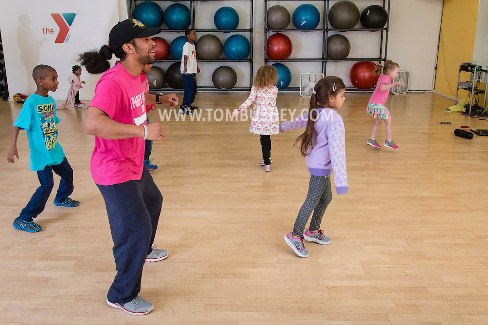 Monroe, New York - Children enjoy activities at Healthy Kids Day at the South Orange YMCA on April 25, 2015.