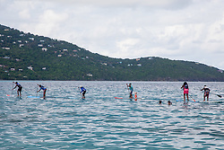 Practicing for Paddle in the Park at Magen's Bay. St. Thomas, USVI.  24 October 2015. © Aisha-Zakiya Boyd
